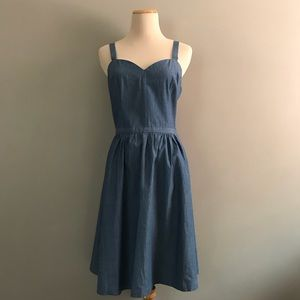 ModCloth Fervour Jean Denim Chambray Day Dress